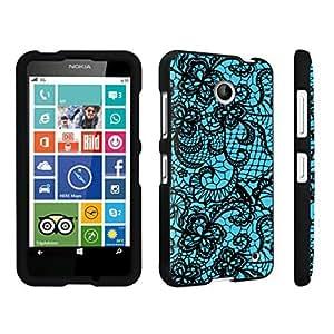 DuroCase ? Nokia Lumia 630 Hard Case Black - (Lace Flower Deep Mint)