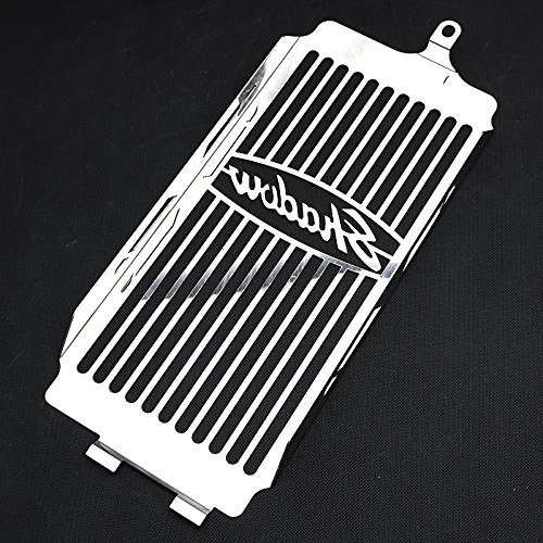 Motorparty Radiator Grill Cover Water Tank Grille Guard Protector For Honda Shadow VT750 ACE 1997-2003 VT 750 Spirit 2001-2008 2007 2006 2005 2004 2003 2002 1999 1998,Stainless Steel,Shadow Pattern by Motorparty (Image #3)