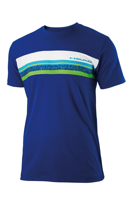 Head - Camiseta pádel sigth, talla m, color azul / blan / verde ...