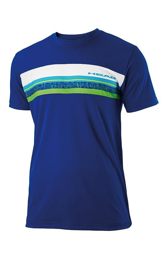 Head - Camiseta pádel sigth, talla m, color azul / blan / verde: Amazon.es: Deportes y aire libre
