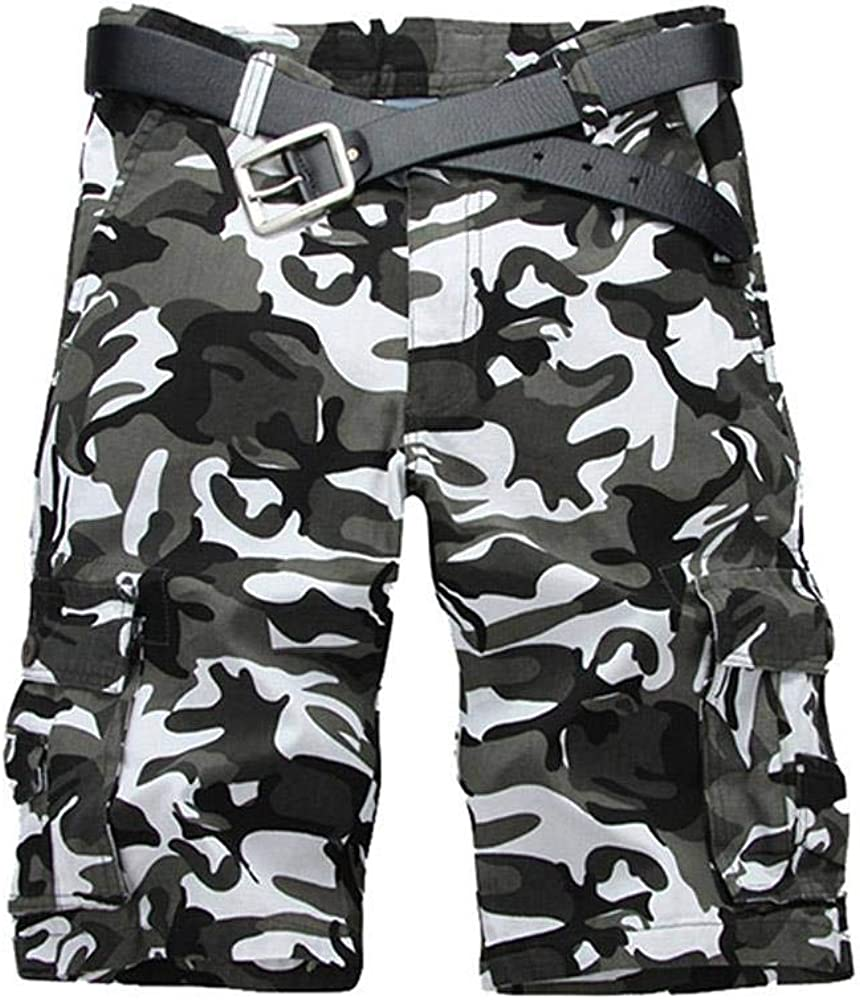 AKARMY Men's Camo Cargo Shorts, Relaxed Fit Outdoor Summer Shorts Casual Cotton Shorts with 8 Pockets
