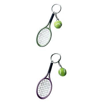 NON MagiDeal Llavero Mini Pelota de Tenis con Raqueta Regalo ...