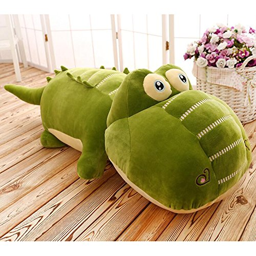 (Dongcrystal 25.5 Inches Plush Green Crocodile Stuffed Animals Alligator Toy Soft Hugging Pillow )