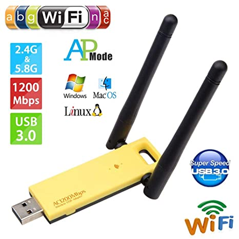 Amazon com: Wireless USB WiFi Adapter, Dual Band 1200Mbps Wireless
