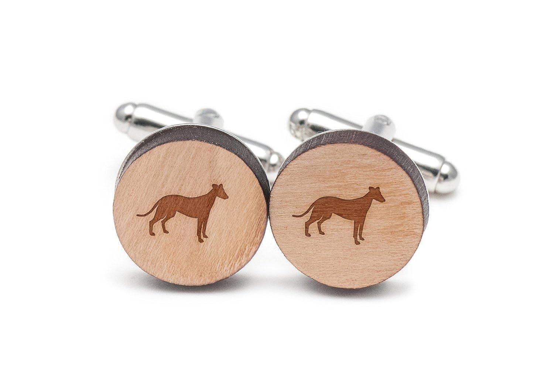Whippet Cufflinks Wood Cufflinks Hand Made in the USA