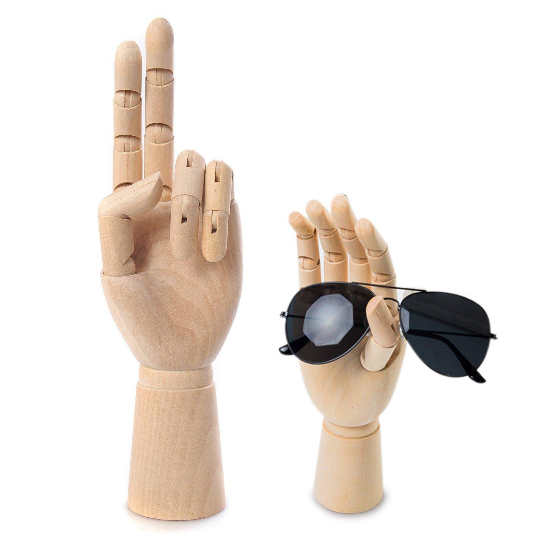 Scoolr, mano articolata, destra o sinistra, in legno, per uomo e per donna, modello anatomico per disegno artistico, 18cm Left hand 18cm Left hand
