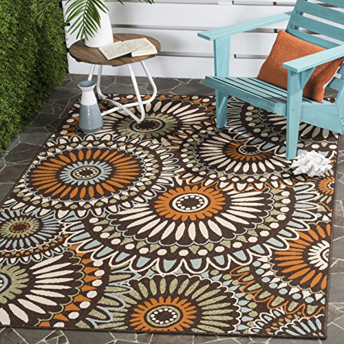 Safavieh Veranda Collection VER091-0725 Indoor/ Outdoor Chocolate