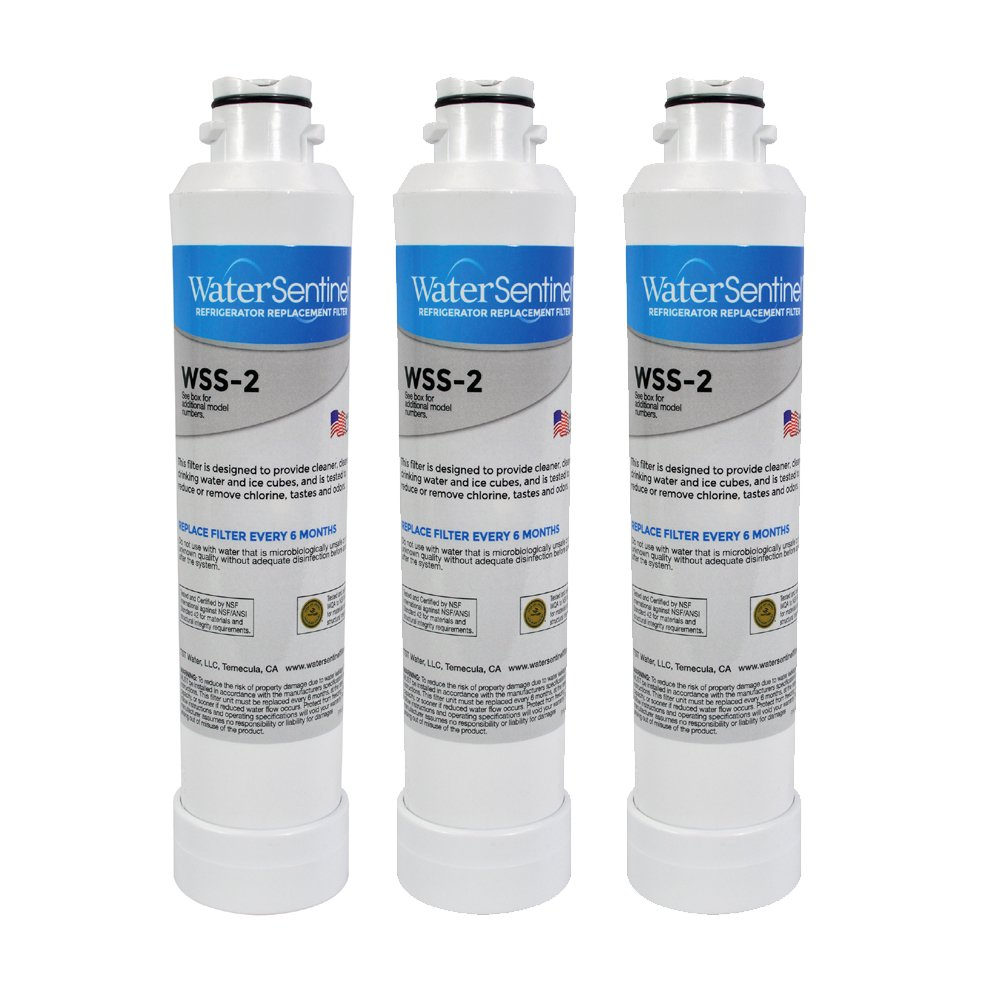 WaterSentinel WSS-2 Refrigerator Replacement Filter: Fits Samsung HAFCIN Filters (3-Pack)