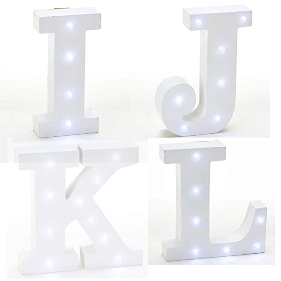 Amazon.com: Stumps - Letra de madera vintage LED: Home & Kitchen