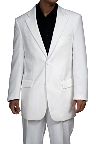 New Men's 2 Button White Dress Suit - Includes Jacket and Pants at ...