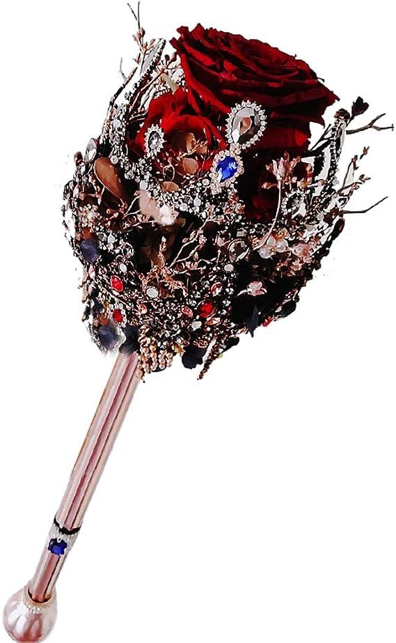 Bouquet Sposa Scettro.Ssoklover Sposa Holding Fiori Matrimonio Romantico Oro Nero Rose Bouquet Della Sposa Scettro Fiore Spilla Bouquet Da Sposa Tenendo I Fiori Amazon It Casa E Cucina