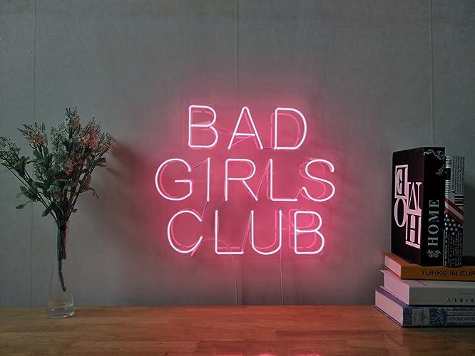 amazon com bad girls club real glass neon sign for bedroom garage rh amazon com