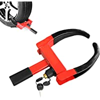 KAYCENTOP Trailer Wheel Clamp Lock Max 10in Tire Width Anti Theft Tire Clamp Boot for Atv's… photo