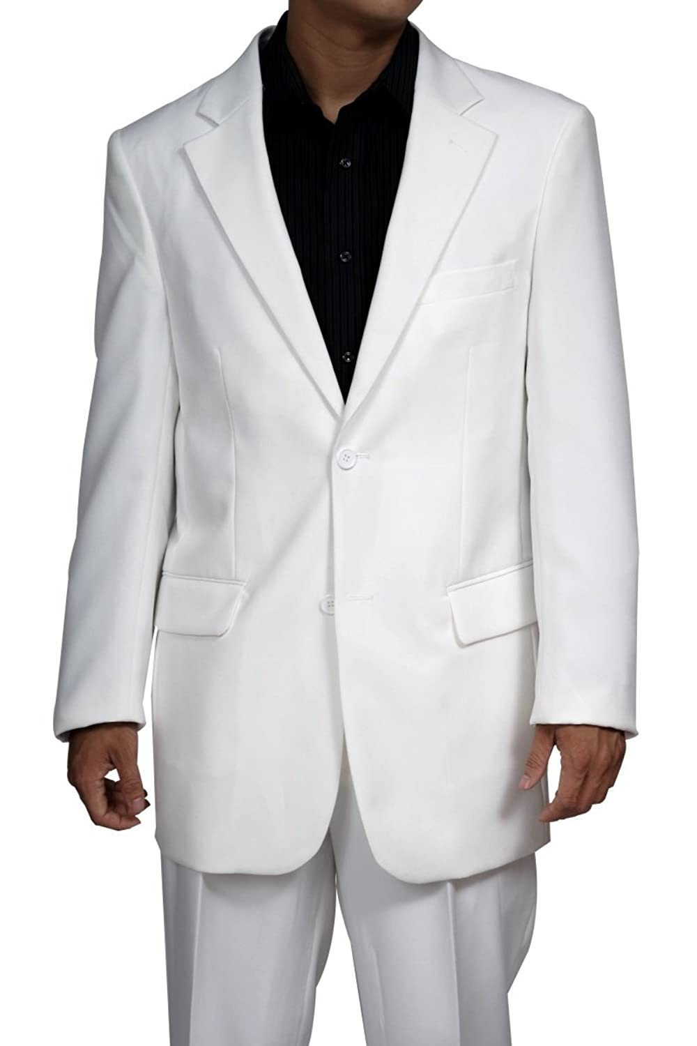 60s -70s  Men's Costumes : Hippie, Disco, Beatles New Mens 2 Button White Dress Suit - Includes Jacket and Pants $99.90 AT vintagedancer.com