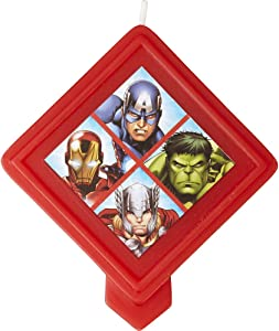 Wilton Marvel Avengers Birthday Candle, Multicolor