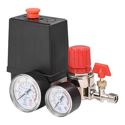 Regulador de Control Del Interruptor de La VáLvula de PresióN Del Compresor de Aire Con ManóMetros Para Una RáPida ReduccióN de La PresióN
