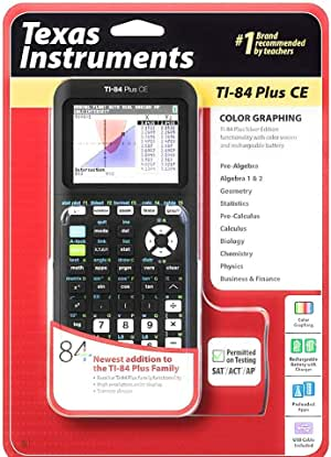 TI-84 Plus CE Graphing Calculator, Black