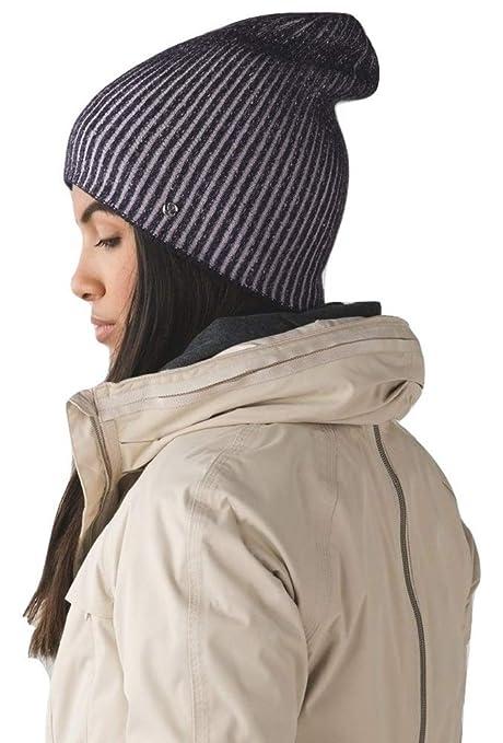 d070fa5ee Amazon.com : Lululemon Divinity Toque Sherpa Fleece Ski Hat (Black ...