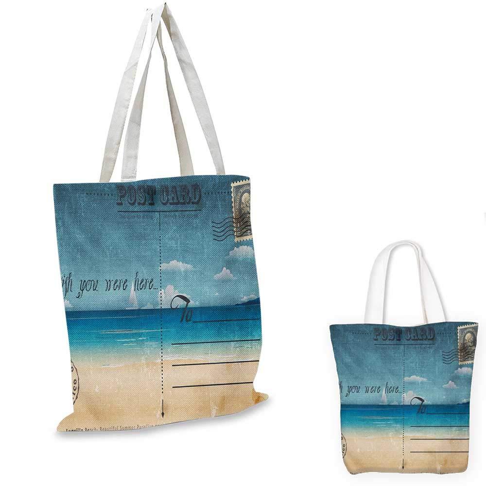 トラベルロングシート 湖の海の景色 夏のホリデーテーマ アートプリント 青 白と緑 15