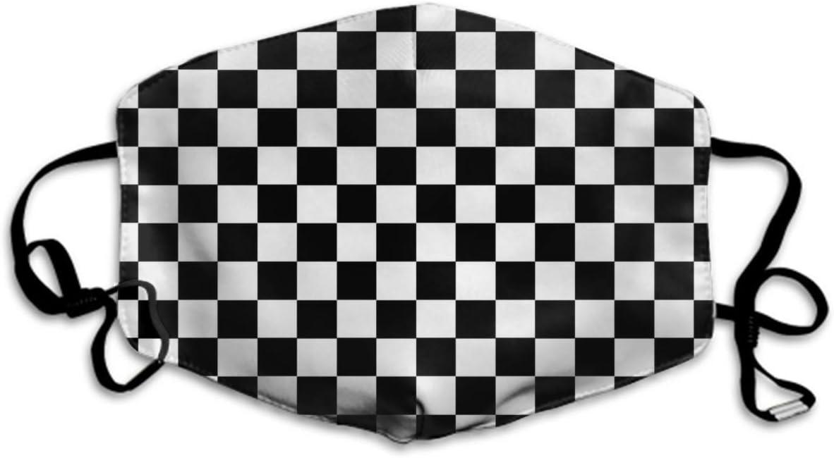 Suave protecci/ón de Tablero de ajedrez Que Cubre la Boca para Adultos y Adolescentes C/ómoda protecci/ón contra el Polvo de Dos Capas