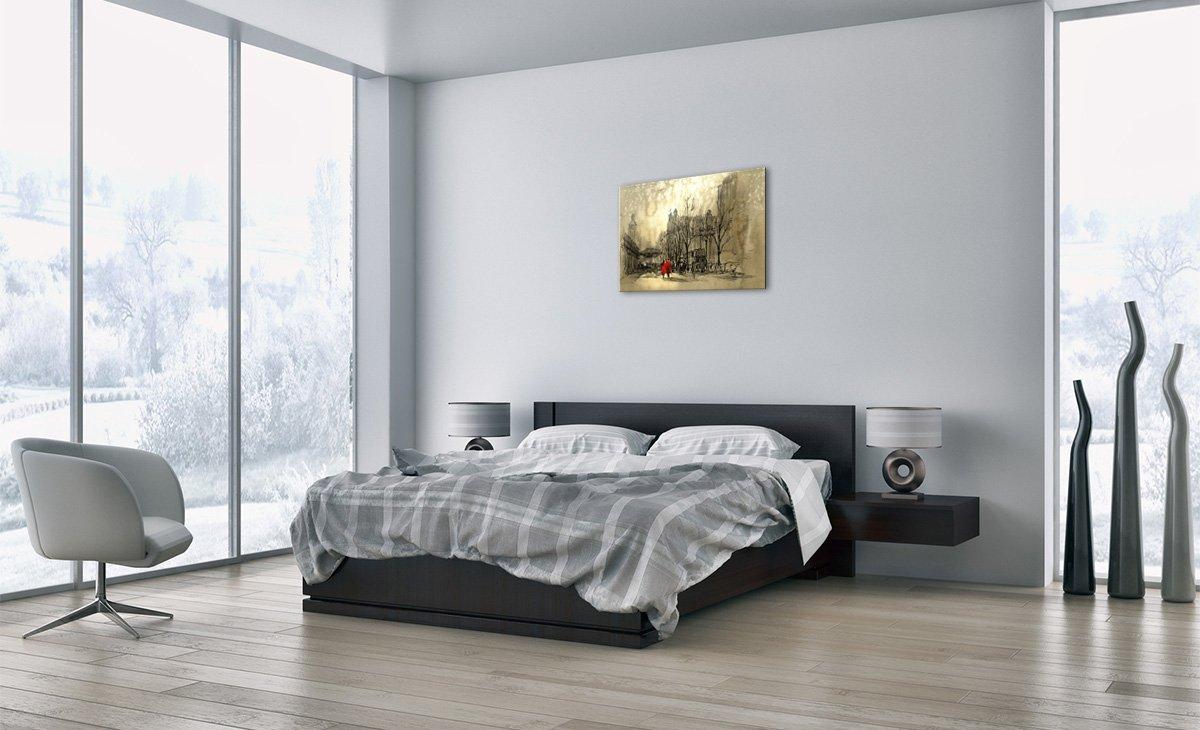 Impression sur Toile Motif Moderne prete a Suspendre Image sur Toile Pret a accrocher 70x50cm Un /él/ément Tableaux pour la Mur 3190 AA70x50-3190 D/écoration encadr/ée