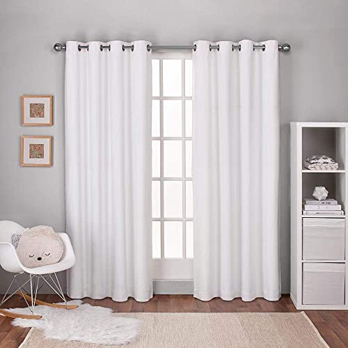Exclusive Home Curtains Textured Linen Thermal Window Curtain Panel Pair