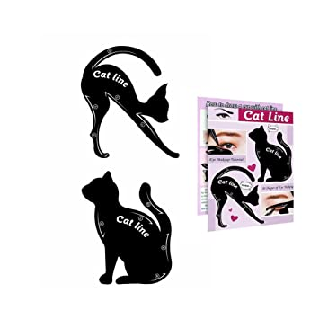 amazon com cat line eyeliner stencil smoky eyeshadow applicators