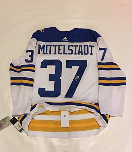 ffcde1c49 Image Unavailable. Image not available for. Color: Casey Mittelstadt  Autographed Signed Buffalo Sabres Adidas Climalite Jersey ...