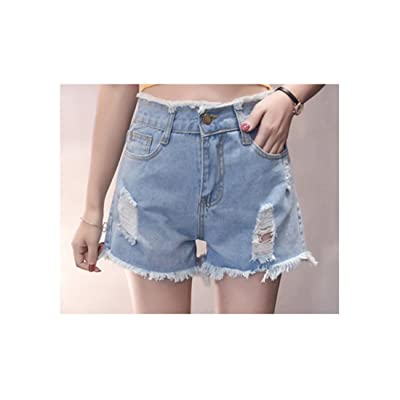 Women's Plus Size High Waisted Cutoff Denim Shorts Juniors Destroyed Ripped Hole Jeans Shorts