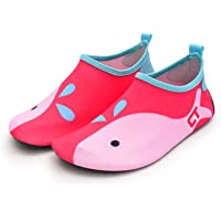katliu Kids Water Shoes Aqua Socks Toddler Quick Dry Swim Shoes with Rubber Sole for Pool Beach