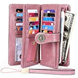 Elegant 24 Slots Womens RFID Wallets Large Capacity Leather Long Trifold Clutch Purse (DZFS(2 id))
