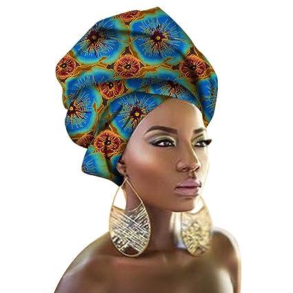 Chien Multi-Color Urban Ladies Hair Accessory Headband,Bazin Wax Print Wrap Tie Scarf