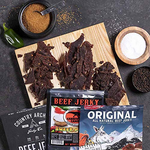 Man Crates Premium Jerky Ammo Can - The Ultimate Gift for Meat Lovers - Includes 3 Beef Jerky Flavors, Gourmet Almonds, Corn Nuggets And More - Ships In A Glorious, Steel Ammo Can He'll Love by Man Crates (Image #4)
