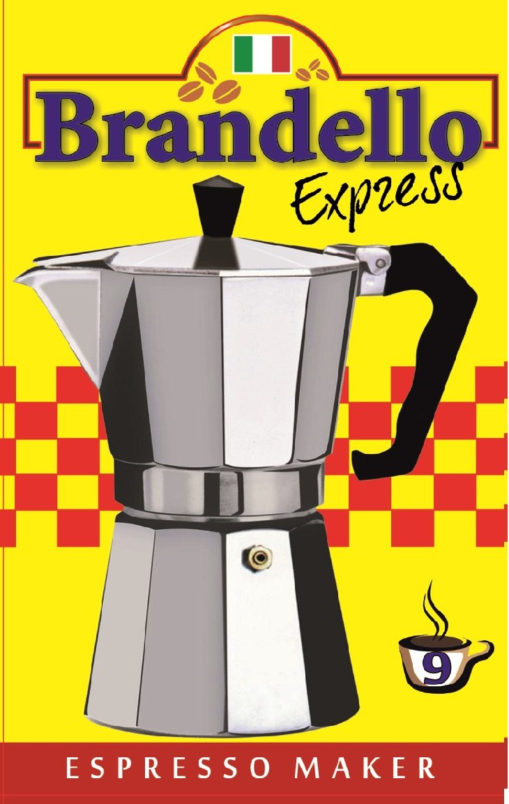 Aluminium Stovetop Espresso Maker Pot for Coffee - 9 Cup Size