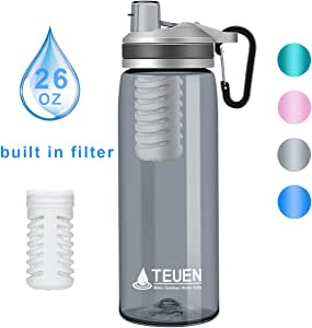TEUEN Filtro Agua Botella 770ml Filtro Purificador de Agua ...