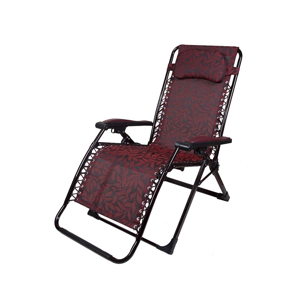YYTLTY Outdoor Recliner,Anti-Gravity Chair, Adjustable for Seat and Recliner, for Terrace Outings and Picnics Easy to Use (Color : Red) by YYTLTY