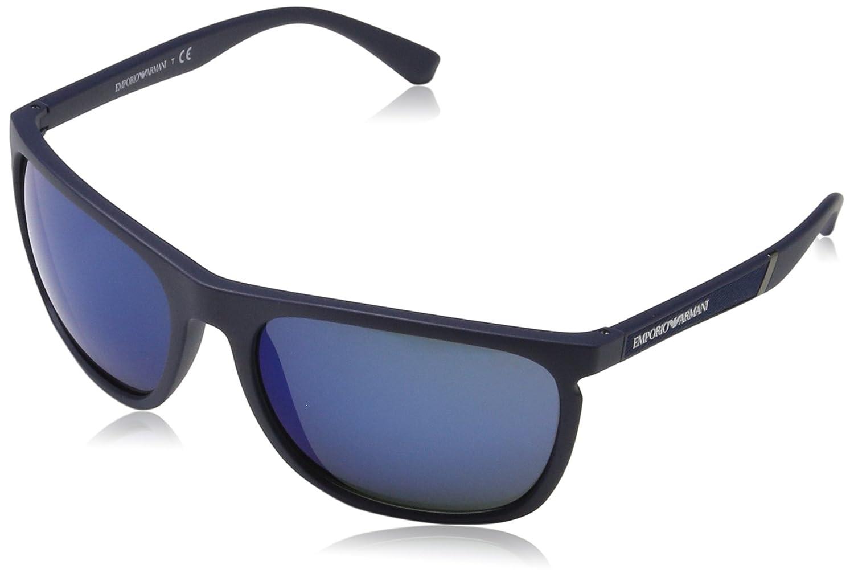 134804ec92b Sunglasses Emporio Armani EA 4107 557596 MATTE BLUE at Amazon Men s  Clothing store