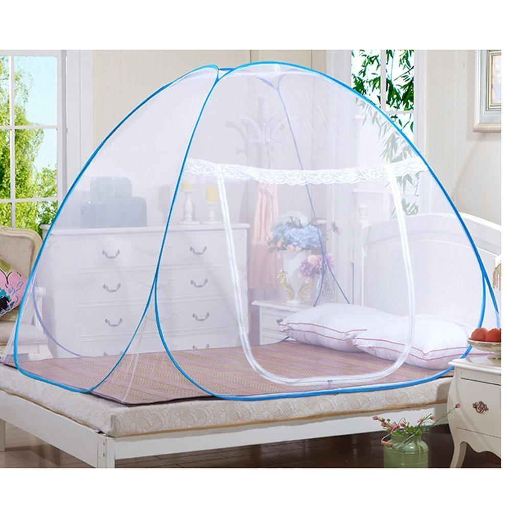 Candora® Mosquito Nets, Outdoor Mongolian Yurt Dome Net-Free Installation and Folding Nets, Prevent Insect,ensure air flow Pop Up Tent Curtains,Great For Indoor and Outdoor Use (150*200*150cm) Candora® Mosquito Nets