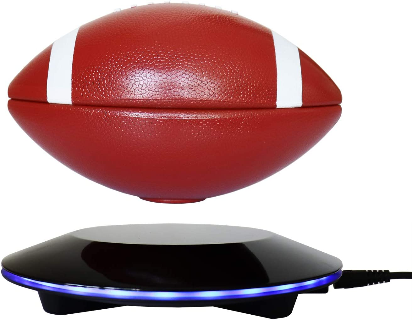 Floating Globe and Rotating Magic Magnetic Levitating Football Creative LED Strip Decoration Crafts for Home//Office//Festival D/écor