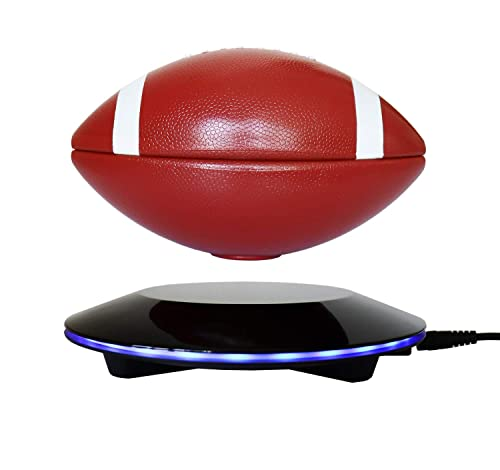 KINGLEV Magnetic Levitating Football with Touch Button Base, Floating and Rotating in Air Freely, Creative Decoration Crafts for Home Office Festival Decor