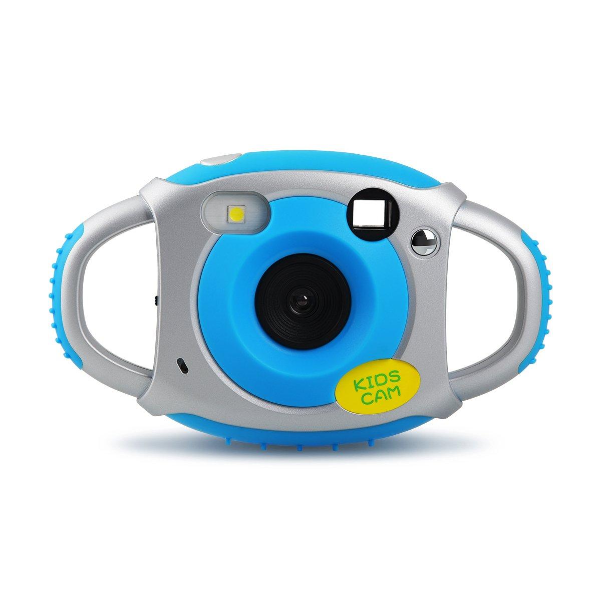 Upgrow Kinder Digital Kamera 1.77' Bildschirm 5 Megapixel Kidizoom Mini Action Camcorder Digitalkamera, Spielzeug und Geschenk für Kinder (Blau) Kamera Kinder blau
