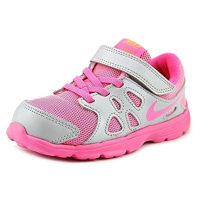 fd66bdbe650 New Nike Baby Girl's Revolution 2 Athletic Shoe Platinum/Pink Pow 10