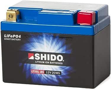 SHIDO LTX5L-BS LION -S- Batería de ion de litio, 12V 20WH, color azul: Amazon.es: Coche y moto