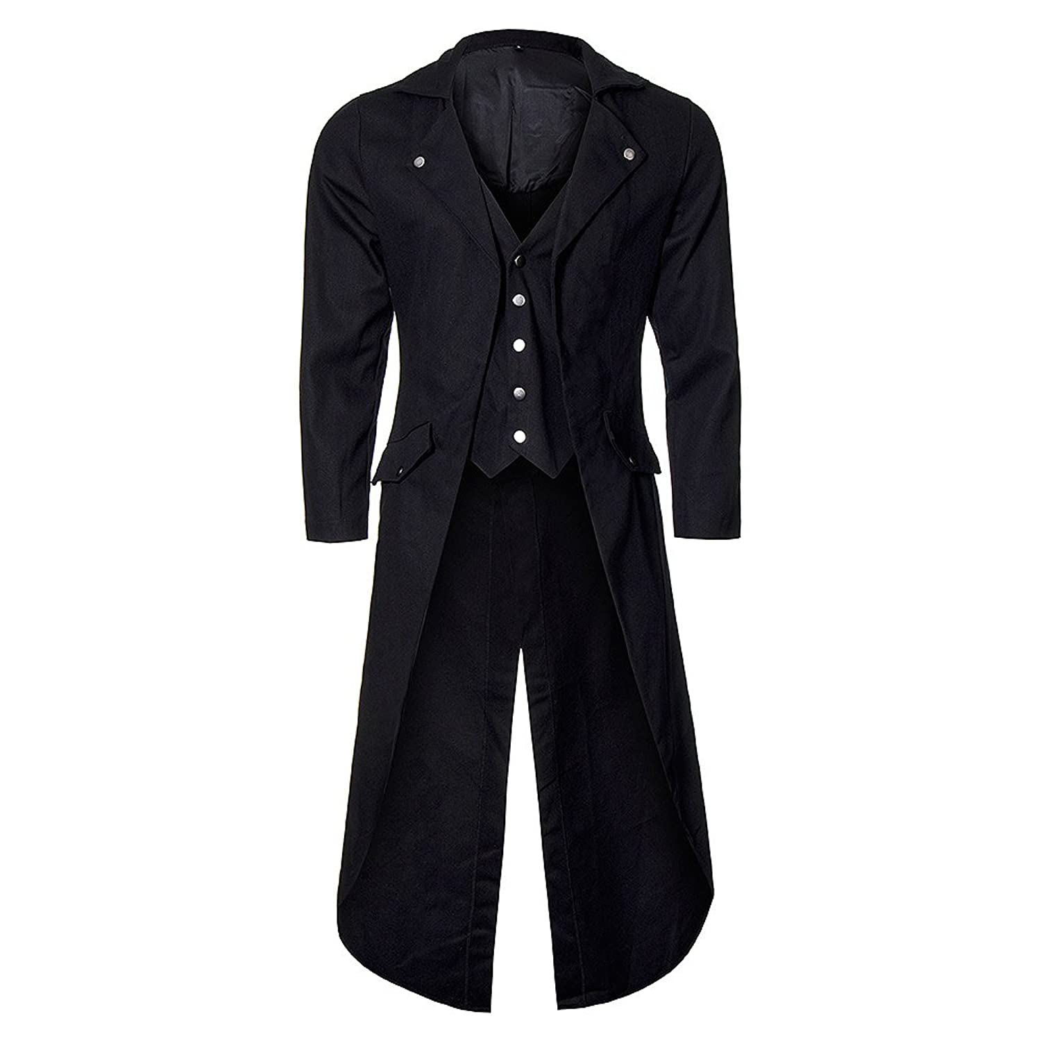 Men's Steampunk Costume Essentials Banned Unisex-adults Frock Tail Coat $99.16 AT vintagedancer.com
