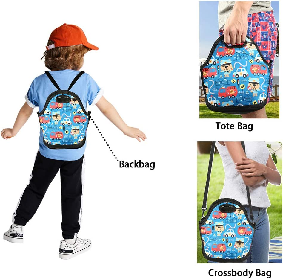 Mens//Womens//Kids Rainbow Unicorn Lunch Tote Bag Insulated Lunch Box for Camping//School//Picnic//Boating//Beach
