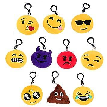 Xinlie Mini Emoji Llavero Emoji Encantadora Almohada ...