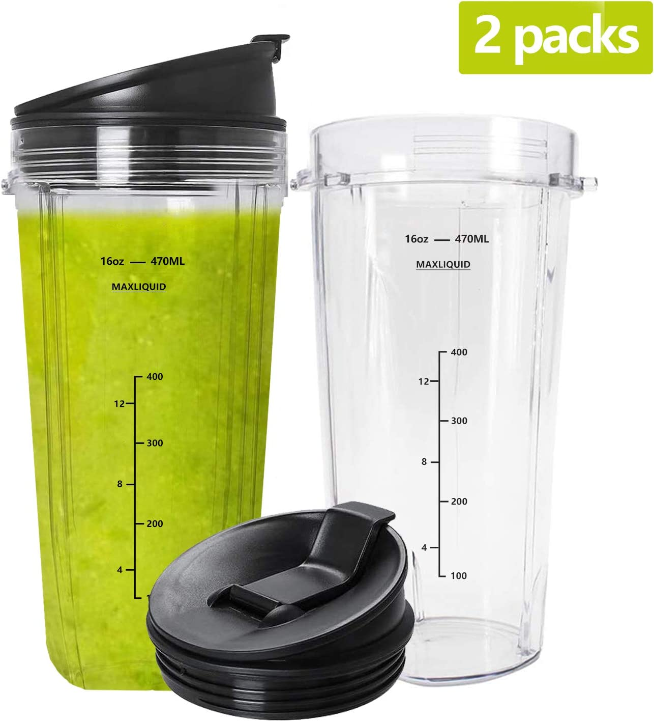 Maybret Ninja replacement 16 oz cup with Spout Lid for with Series BL770 Blenders 2