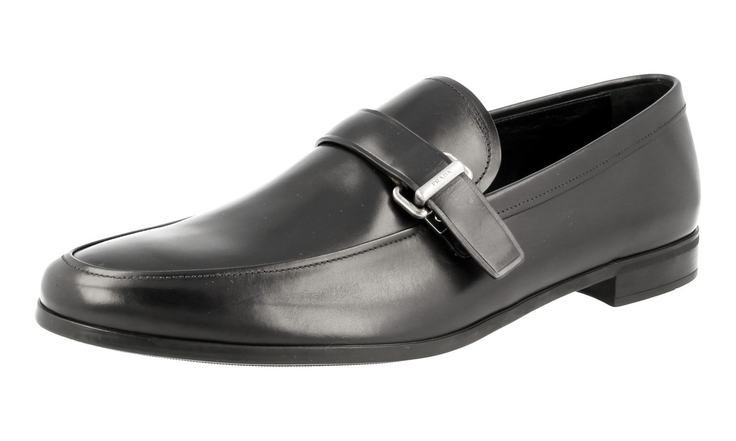 Prada Men's 2DE096 DT7 F0008 Black Leather Business Shoes EU 9 (43) / US 10 by Prada