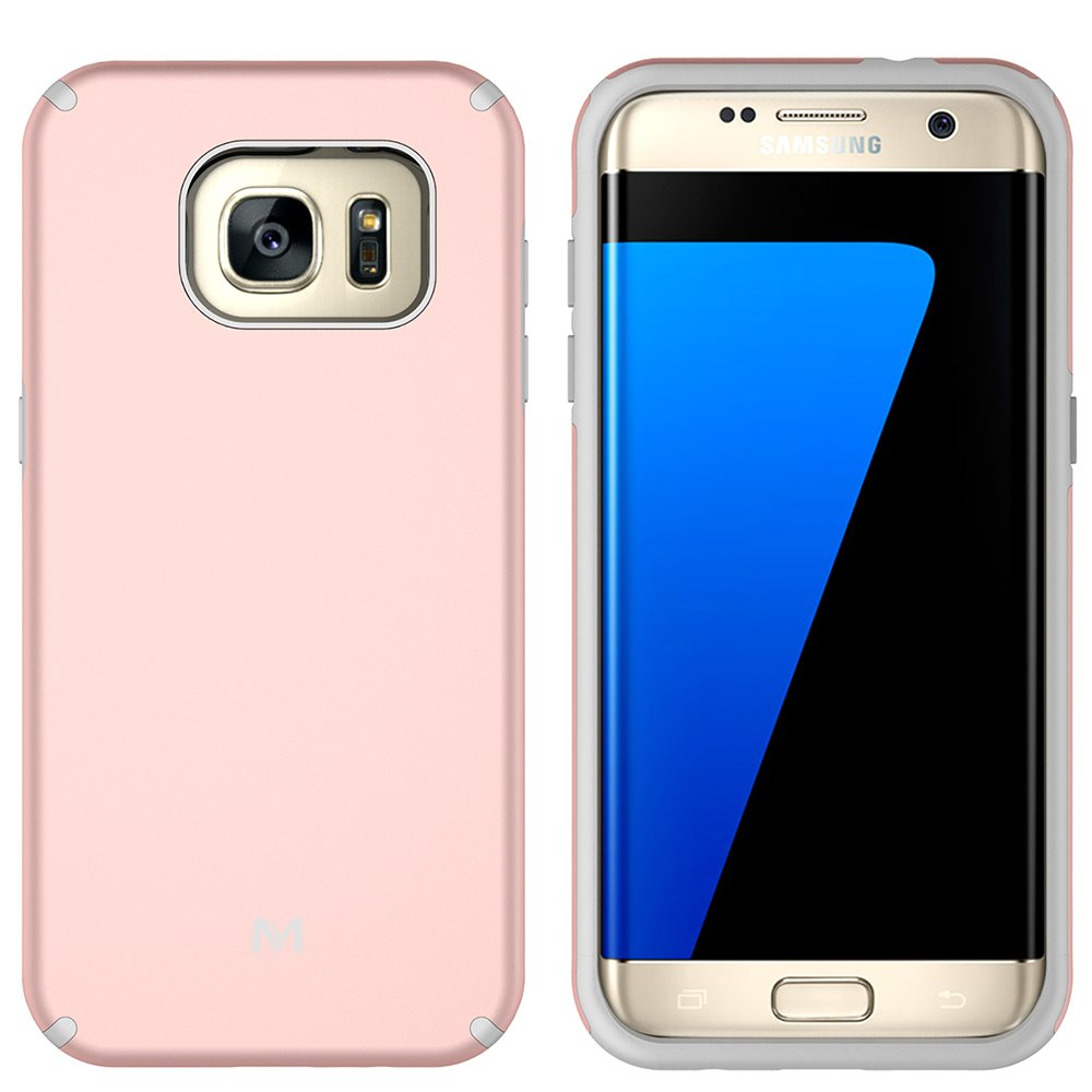 S7 Edge Case, Galaxy S7 Edge Case, MagicSky Slim Corner Protection Shock Absorption Hybrid Dual Layer Armor Defender Protective Case Cover for Samsung Galaxy S7 Edge (Rose Gold)