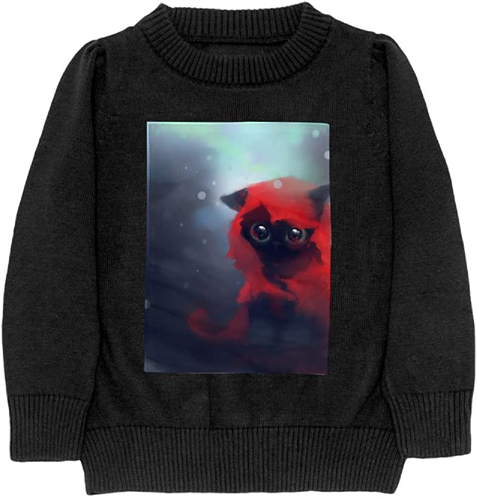 DTMN7 Red Cat Teens Sweater Long Sleeves Crew-Neck Youth Athletic Casual Tee Junior Boys